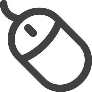 Computer Mouse Stroke Icon