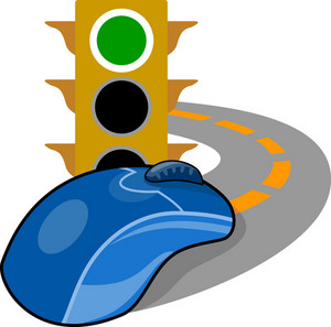 Computer Mouse With Traffic Light
