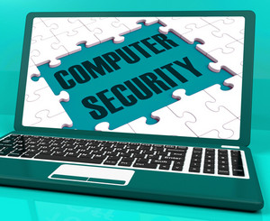 Computer Security On Laptop Showing Antivirus Scans