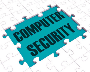 Computer Security Puzzle Showing Files Protection