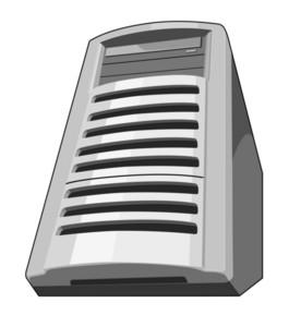 Computer Server Retro