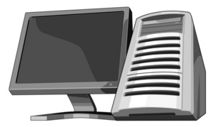 Computer Server With Monitor
