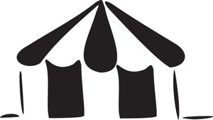 Concept Of Circus With Tent.