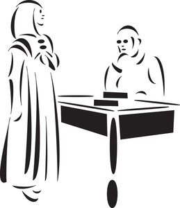 Concept Of Court With Convict.