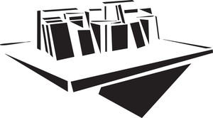Concept Of Library With Books Coolection.