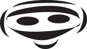 Concept Of Stylish Masquerade Mask.