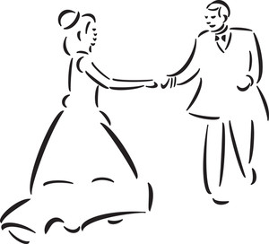 Concept Of Wedding With Dancing Couple.