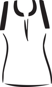 Concept Of Women Clothing With Sleeve Less Top.