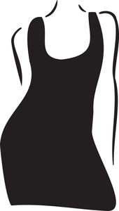 Concept Of Women Clothing With Stylish Dress.
