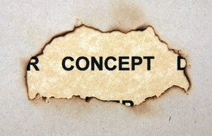 Concept Text On Paper Hole