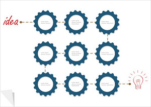 Concept Vector Template With Gear Wheels