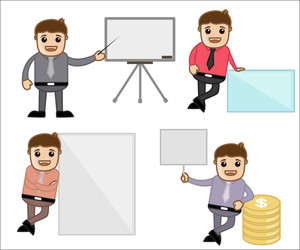 Concepts & Poses - Office And Business Cartoon Character Vector Illustration