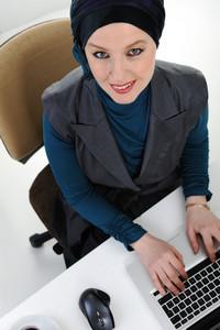 Confident and beautiful european  Muslim woman