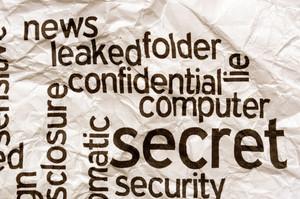 Confidential Secret Computer Security Concept