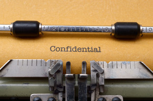 Confidential Text On Typewriter