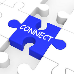 Connect Puzzle Shows Global Communications