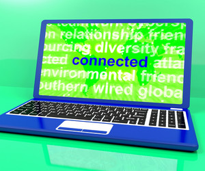 Connected Definition On Laptop Shows Online