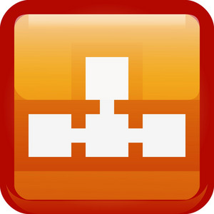 Connected Network Orange Tiny App Icon
