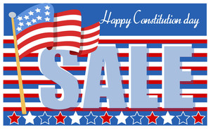 Constitution Day Sale Advertisement Vector Illustration