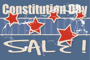 Constitution Day Sale Vector Illustration