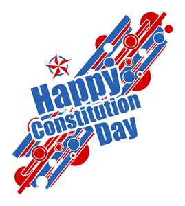Constitution Day Vector Illustration