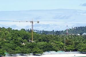 Construction on beach