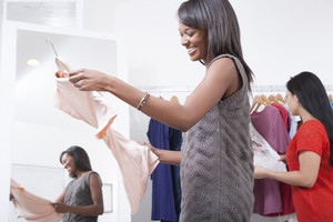 Consumers shopping for clothes