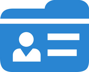 Contact Id Simplicity Icon