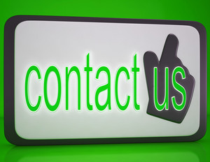 Contact Us Button Showing Customer Service
