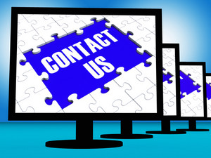Contact Us On Monitors Shows Assistance