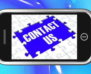 Contact Us On Smartphone Showing Online Assistance