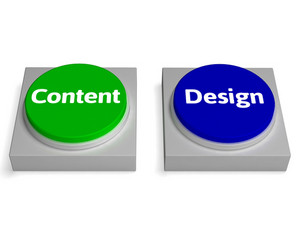 Content Design Buttons Shows Graphic Or Presentation