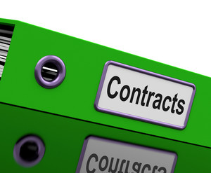 Contract File Shows Legal Business Agreements