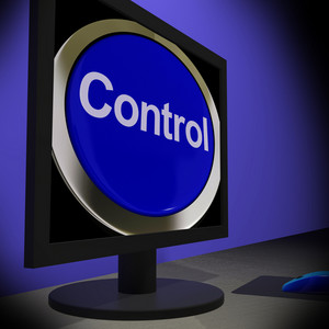 Control On Monitor Showing Operating Button