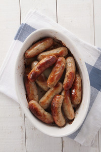 Cooked Bitish Sausages