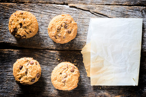 Cookies And Blank Paper