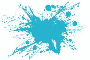 Cool Blue Vector Splash