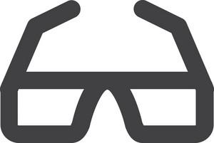 Cool Glasses Stroke Icon