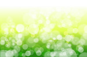 Cool Green Bokeh