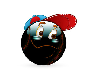 Cool Smiley With Cap Vector