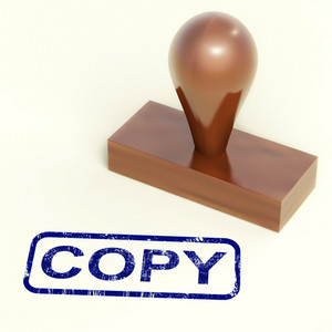 Copy Rubber Stamp Shows Duplicate Replicate Or Reproduce