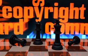 Copyright And Chess Concept