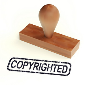 Copyrighted Rubber Stamp Showing Patent