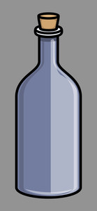 Cork Bottle - Vector Illustration
