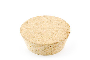 Cork Stopper On White