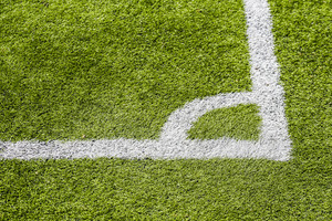 Corner soccer green field background