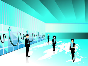 Corporate Background With Business People