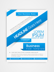 Corporate flyer template or brochure design with place holders for your content.