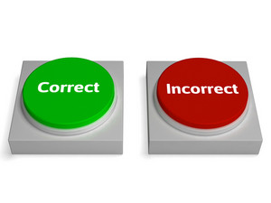 Correct Incorrect Buttons Shows True Or False