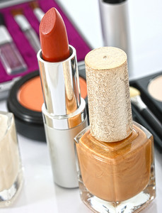 Cosmetics Ready For Making Up A Lady's Face